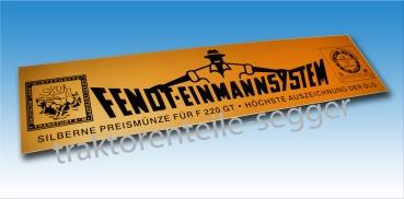 FENDT Schild Motorhaube  Farmer 106 LS Turbomatik  Alu geprägt