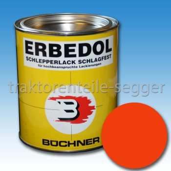 (17,33 Euro/L) ERBEDOL Farbe Holder orange Schlepperlack